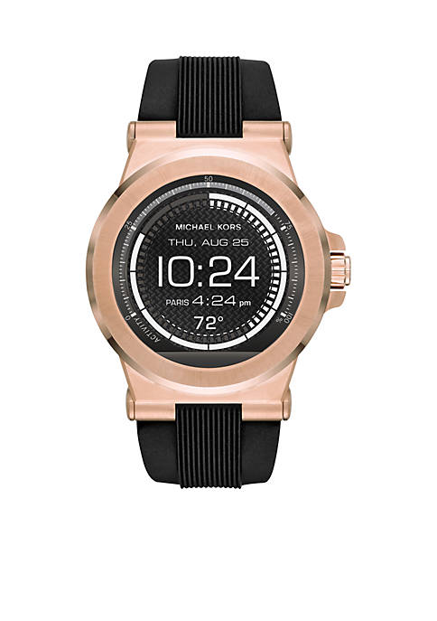 Michael Kors Connected Mens Dylan Rose Gold-Tone Smartwatch