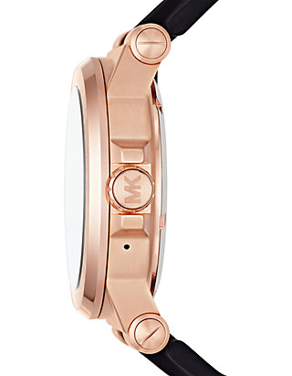0085980008bd Michael Kors Connected Mens Dylan Rose Gold-Tone Smartwatch ...