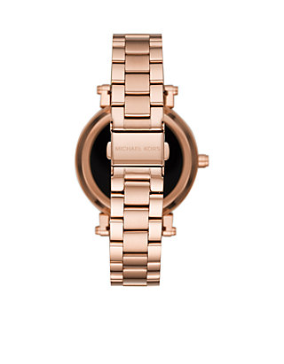 f8eac07c30c3 Michael Kors Access Womens Sofie Rose Gold-Tone Touchscreen Smartwatch ...