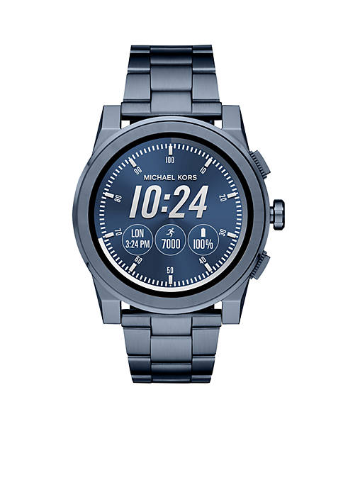 Michael Kors Access Mens Grayson Blue IP Touchscreen