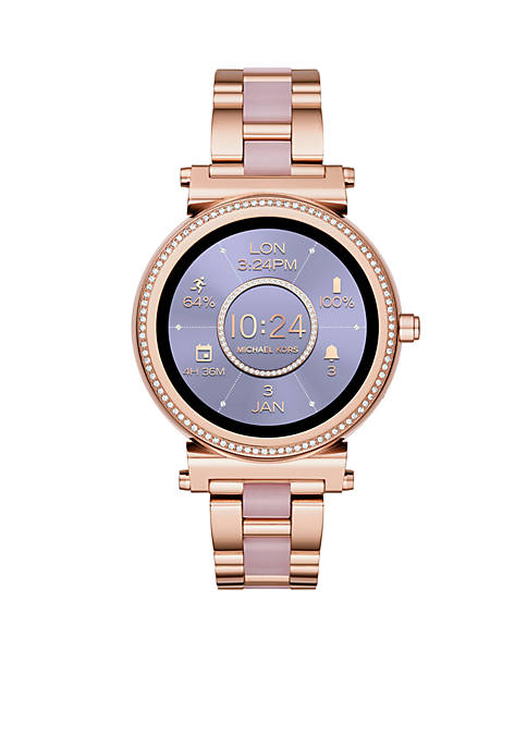 Michael Kors Rose Gold-Tone Sofie Touchscreen Smartwatch