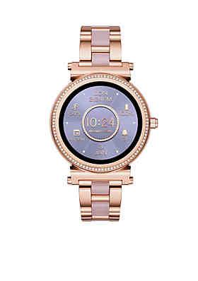 Michael Kors Rose Gold-Tone Sofie Touchscreen Smartwatch ... 1767ec11bb