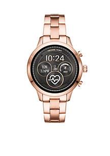 Rose Gold-Tone Runway Bracelet Digital Display Watch