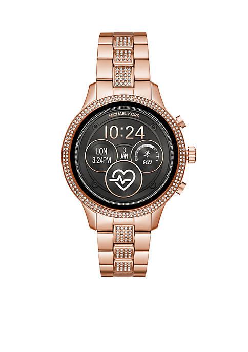 Rose Glitz Runway Bracelet Watch