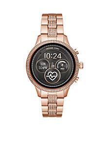 Michael Kors Rose Glitz Runway Bracelet Watch