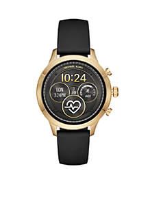 Gold-Tone Runway Silicone Strap Digital Display Watch