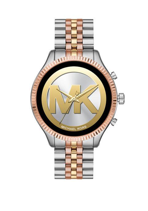 Michael Kors Touchscreen Smartwatch-Lexington Tri-Tone Stainless