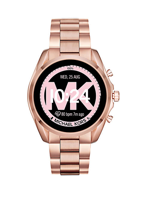 Womens Rose Gold Tone Stainless Steel Access Touchscreen Bradshaw Smartwatch