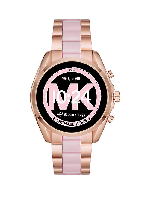 Michael Kors Womens Two Tone Stainless Steel and
