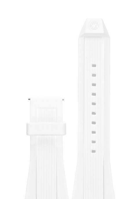 Connected Mens Dylan White Silicone Strap