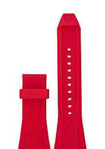 Connected Men's Dylan Red Silicone Strap