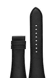 Connected Men's Dylan Black Smooth Leather Strap
