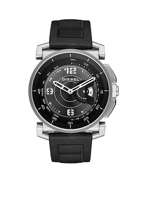 Diesel Connected Mens On Time Leather Hybrid Smartwatch