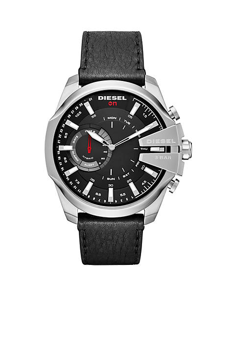 Diesel Mens Stainless Steel Mega Chief Hybrid Watch