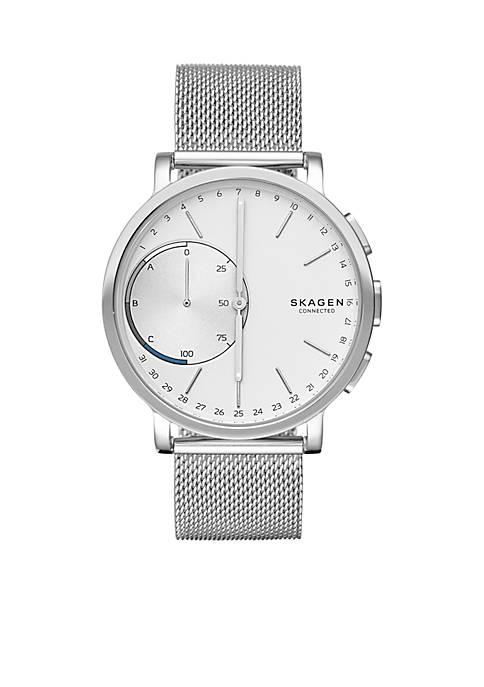 Silver-Tone Hagen Connected Smartwatch