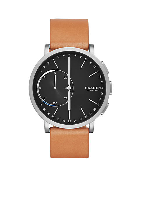Silver-Tone Hagen Connected Hybrid Smartwatch