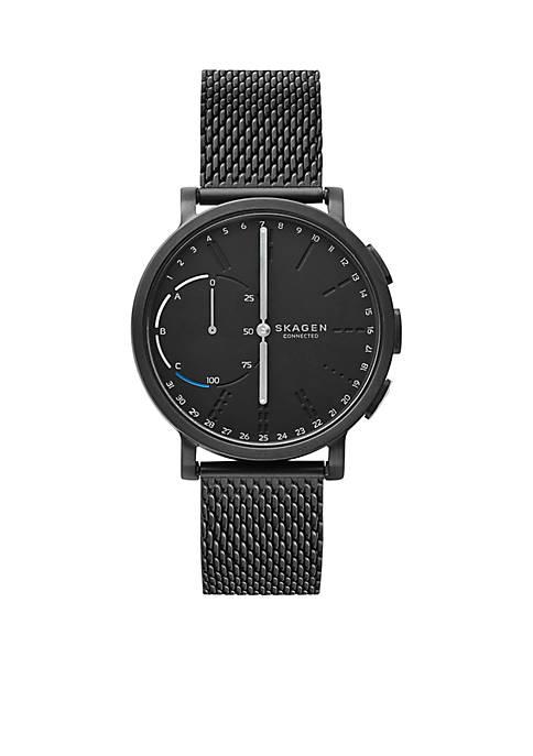 Skagen Connected Mens Hagen Steel-Mesh Hybrid Smartwatch