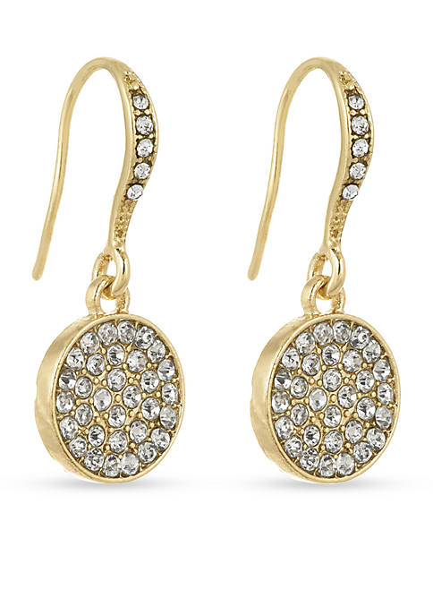 Laundry by Shelli Segal Disc Drop Earrings