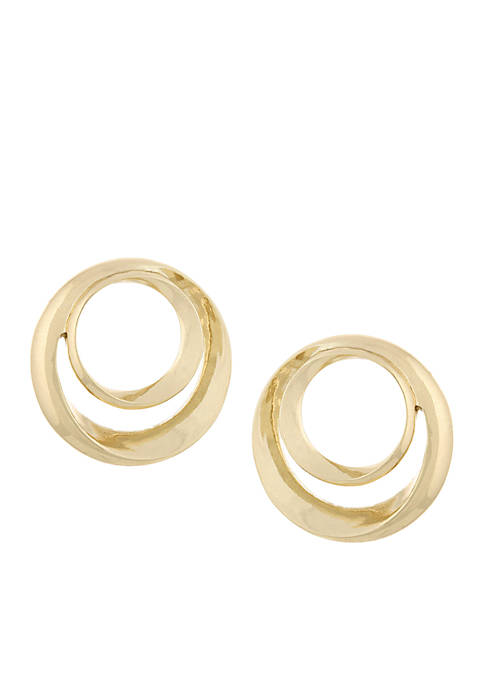 Laundry by Shelli Segal Double Circle Post Earrings