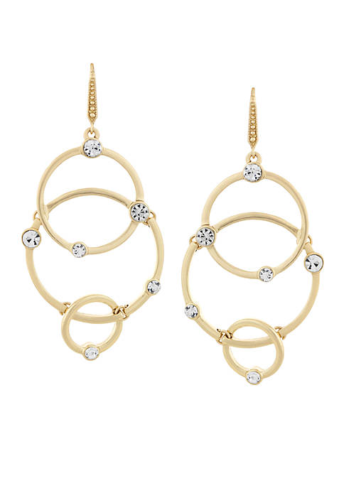 Laundry by Shelli Segal Circle Link Drop Earrings