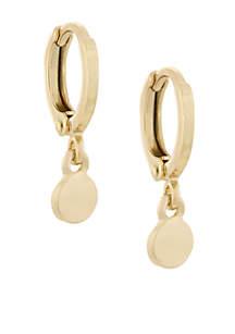 Gold-Tone Huggie Hoop with Drop Earrings
