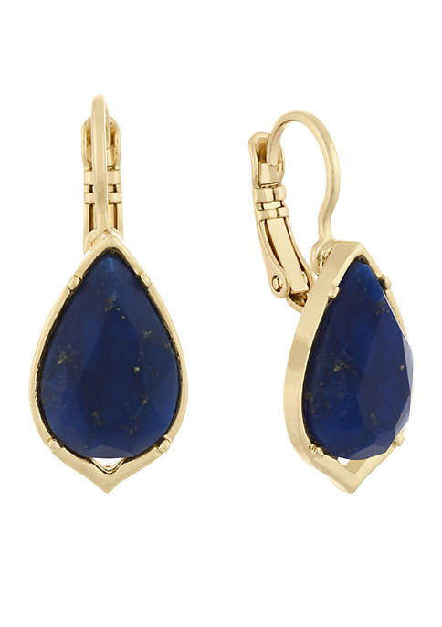 Laundry by Shelli Segal Gold-Tone Stone Drop Earrings