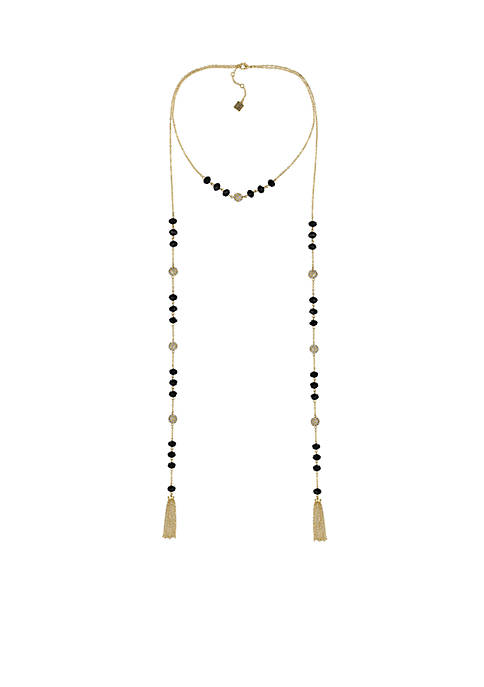 Laundry by Shelli Segal Gold-Tone Two Row Lariat