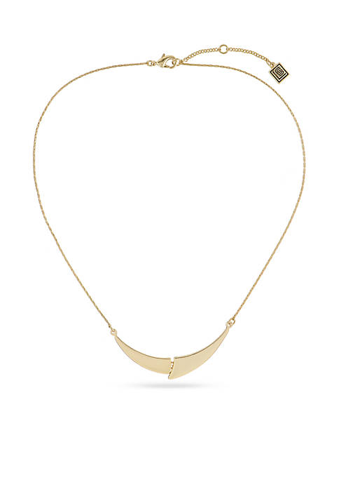 Laundry by Shelli Segal Gold-Tone Puzzle Pendant Necklace