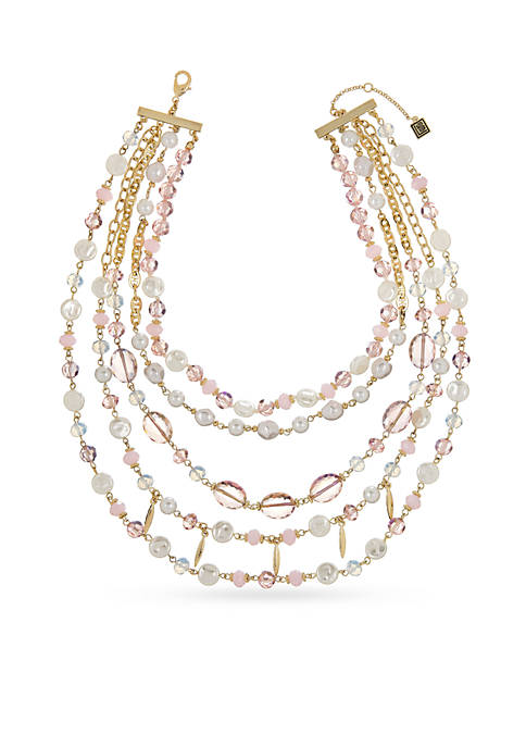 Laundry by Shelli Segal Layer Beaded Drama Necklace