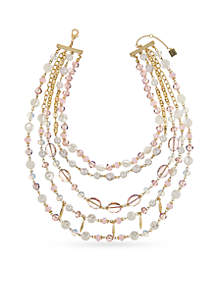 Layer Beaded Drama Necklace
