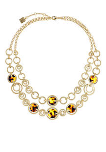 Laundry by Shelli Segal Gold-Tone 2 Row Tortoise Link Necklace