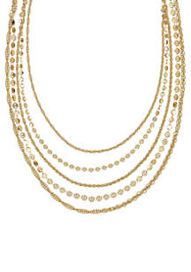 Laundry by Shelli Segal Layered Chain Necklace