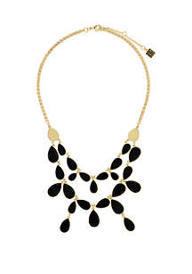 Gold-Tone 2-Row Frontal Necklace