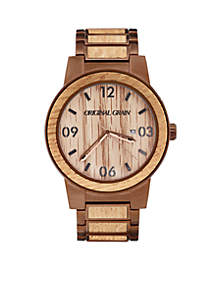 Men's Barrel Whiskey Espresso Watch
