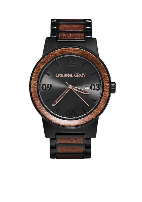 ORIGINAL GRAIN Mens Barrel Sapele Black Watch