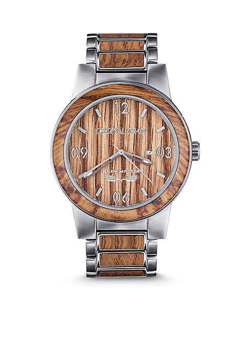 ORIGINAL GRAIN Stainless Steel Mens Barrel Brewmaster 47