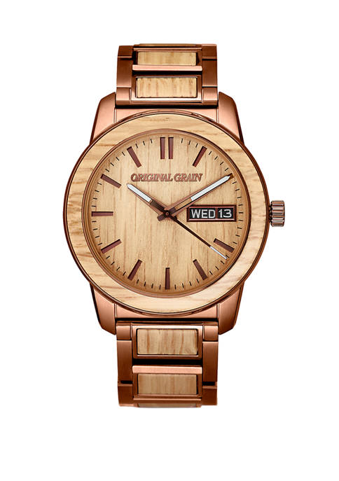Mens Reclaimed Whiskey Barrel Watch