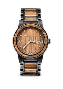 Koa Stonewashed Barrel Watch