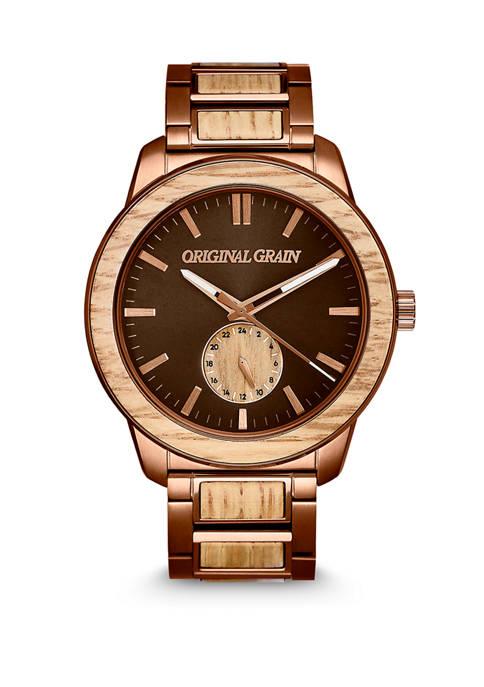Mens Reclaimed Whiskey Barrel Watch
