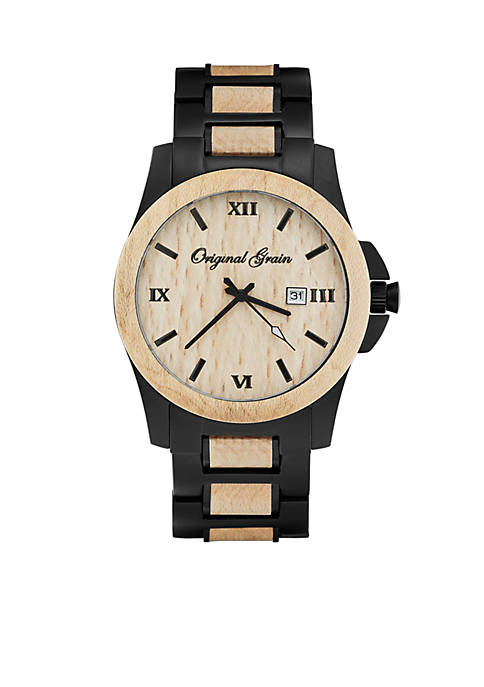ORIGINAL GRAIN Mens Classic Maplewood Black Watch