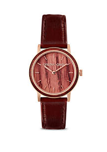 Stainless Steel Antique Wine Soaked Minimalist Watch