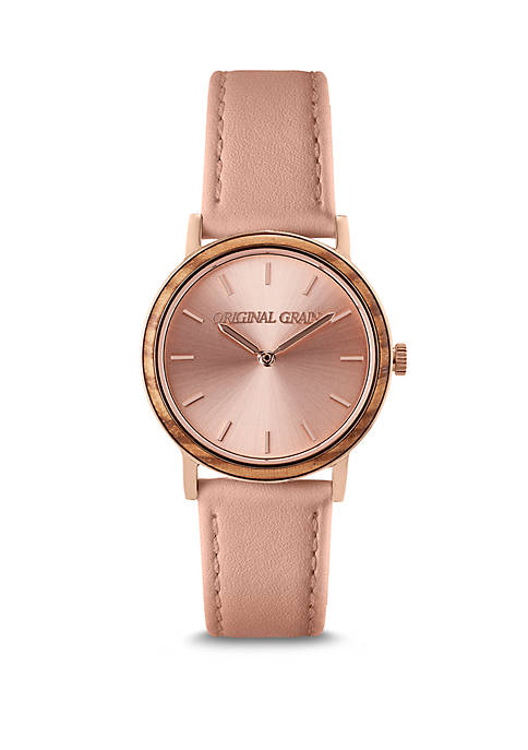 Stainless Steel Sophie Leather Strap Watch