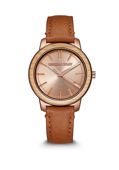 Womens Oakwood Rose Gold Watch