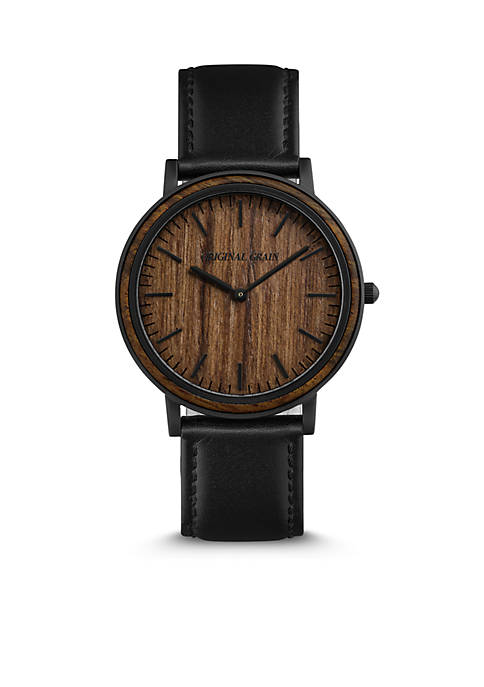Minimalist Ebony Wood Dial Watch