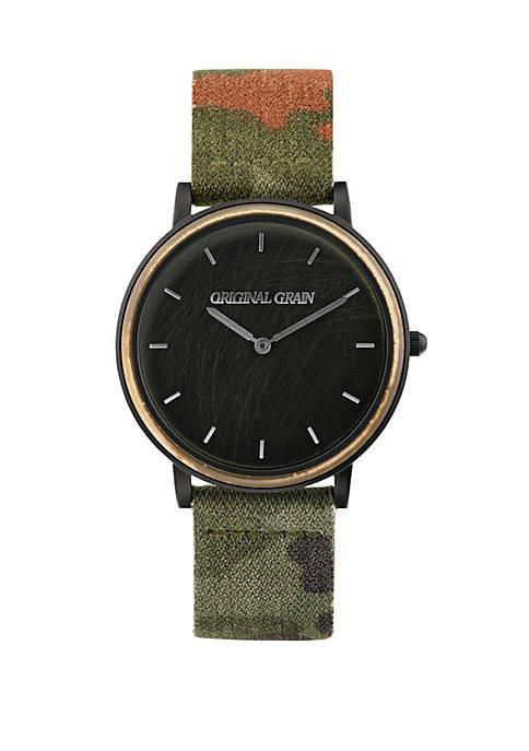 ORIGINAL GRAIN Stainless Steel Matte Black Watch with