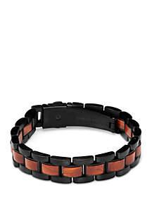 ORIGINAL GRAIN Rosewood Black Link Bracelet