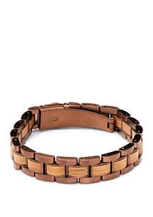 ORIGINAL GRAIN Whiskey Barrel Espresso Link Bracelet