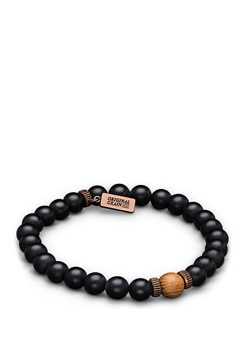 Whiskey Onyx Crown Bracelet