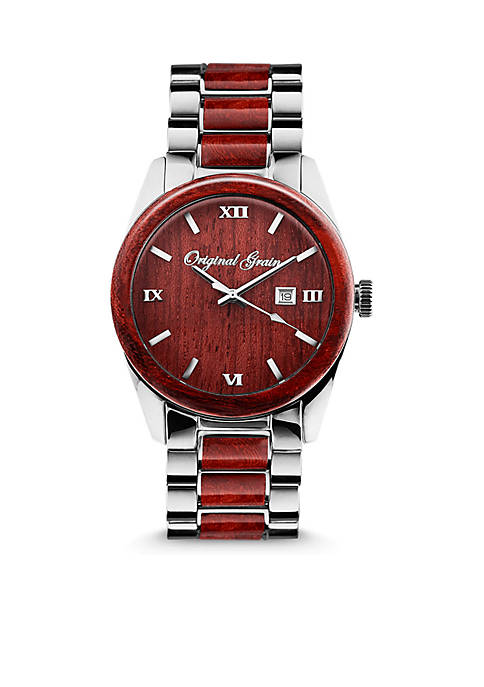 Mens Rosewood Chrome Watch