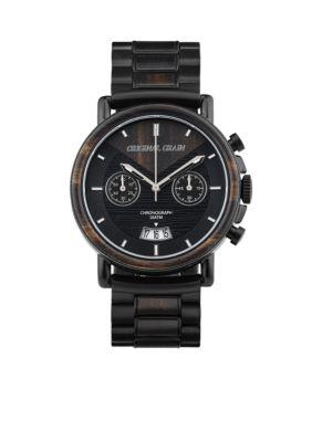 Original Grain Men's Alterra Matte Black Ebony Wood Watch - Black